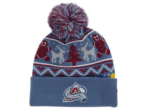 Colorado Avalanche New Era NHL Ugly Sweater Knit Hats