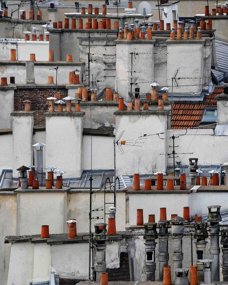 Paris Rooftops by Michael Wolf via Trendland