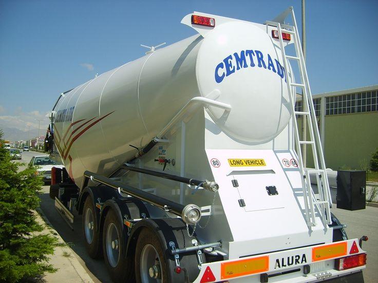 bulk cement trailer via www.aluratrailer.com  https://www.facebook.com/aluratrailers
