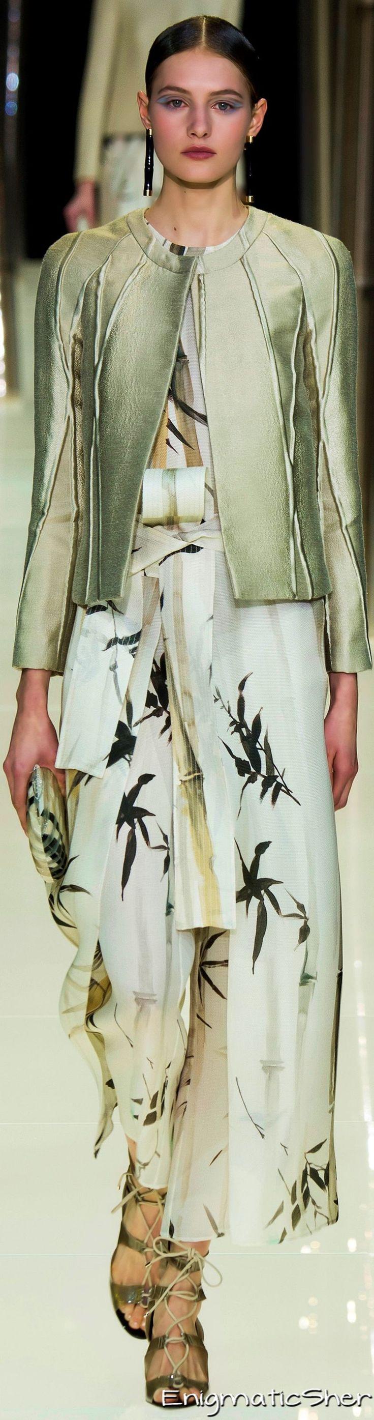 Giorgio Armani Privé Haute Couture Spring Summer 2015 women fashion outfit clothing style apparel @roressclothes closet ideas