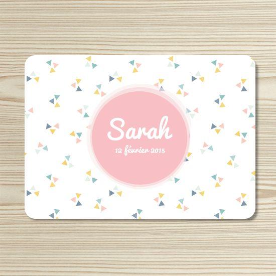 Tanni Lou - Faire-part naissance SARAH | Modèle personnalisable gratuitement (texte et couleur)