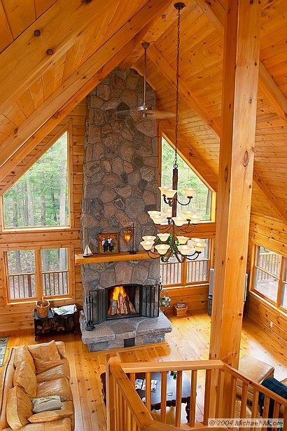 Colonial Concepts Log & Timberframe - Custom livingroom