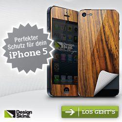 Schütze dein iPhone 5 mit individuell gestaltbaren Designfolien
