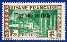 Inini 27 Stamp - Stamp of French Guinea Overprinted - SA IN 27-1 MNH GZ
