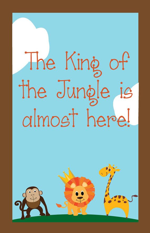 Fun Safari Jungle Baby Shower Theme Part - 38: Personalized Jungle Baby Shower Sign/Gate By LollipopPartyStop, $10.00