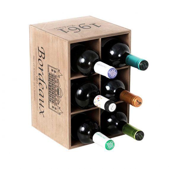 Range Bouteilles En Bois Facon Caisse De Vin Rangement Bouteille De Vin Range Bouteille Caisse A Vin