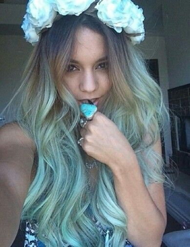 Ombre pastel hair