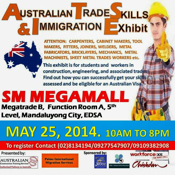 Work in Australia - Australian Trade Skills Exhibit in the Philippines (Manila and Cebu) this May and June 2014 - Pinoy Work and Study Abroa...