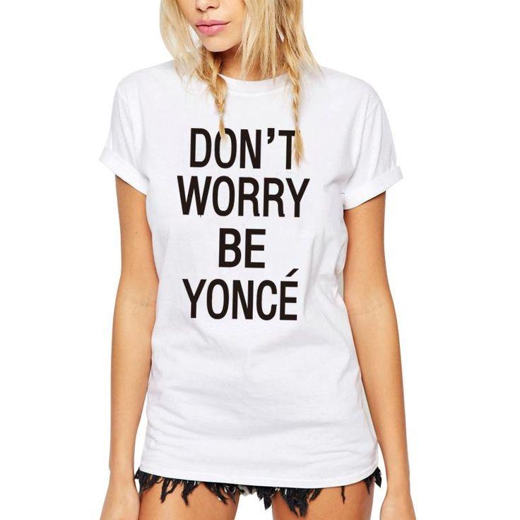 >> Click to Buy << IYASEROZ 2017 New Fashion Women Blusa Beyonce Print Short Sleeve T Shirt Female Casual Plus Size Halajuku Customize Tops Tees #Affiliate