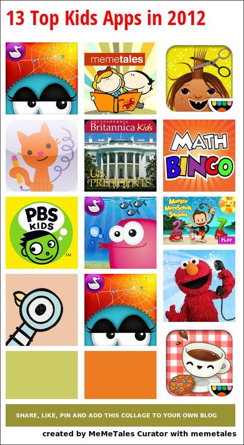 13 Top Kids Apps in 2012