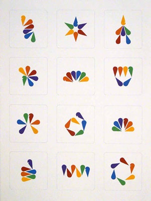 NBC logo deconstructed and rearranged, by Vandana Jain