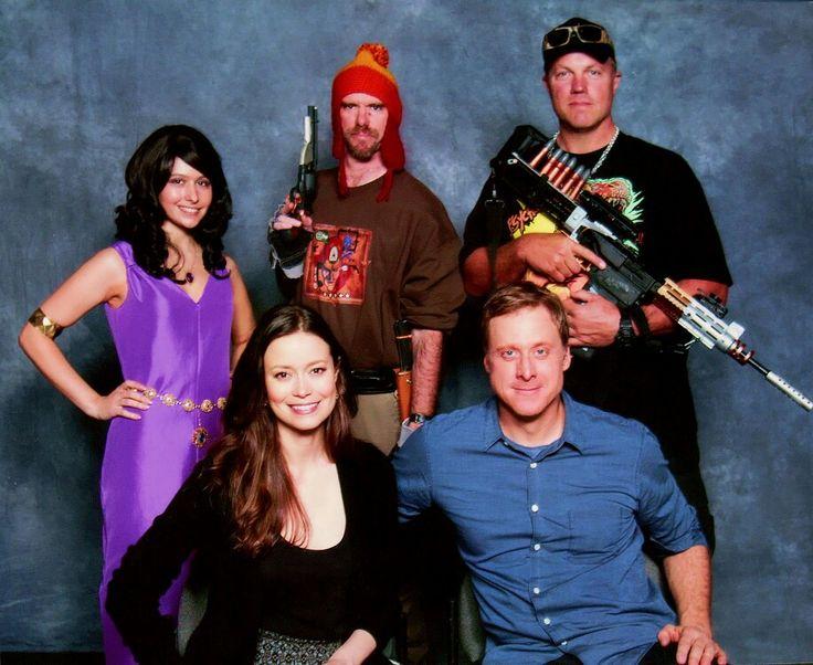 With Adam Baldwin, Summer Glau, Alan Tudyk, and my buddy Erica.  Megacon 2015
