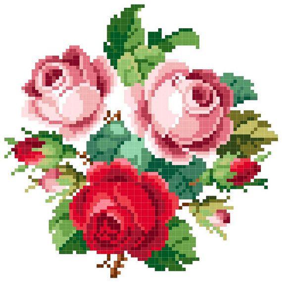 Valentine Cross stitch pattern by rolanddesigns on Etsy, $3.00