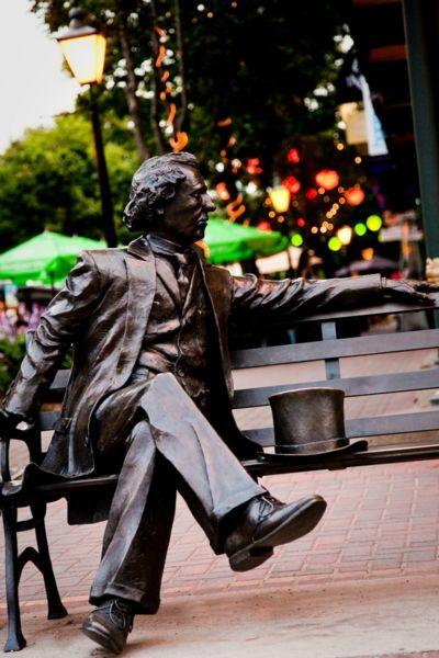 Sir John A Macdonald enjoying his rare moments of solitude.