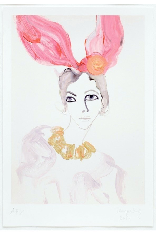 happy easter: Asked Ling, Bunnies Ears, Louis Vuitton, Ling Louis, Vuitton Bunnies, Fashion Week, Art, St. Louis, Fashion Illustrations