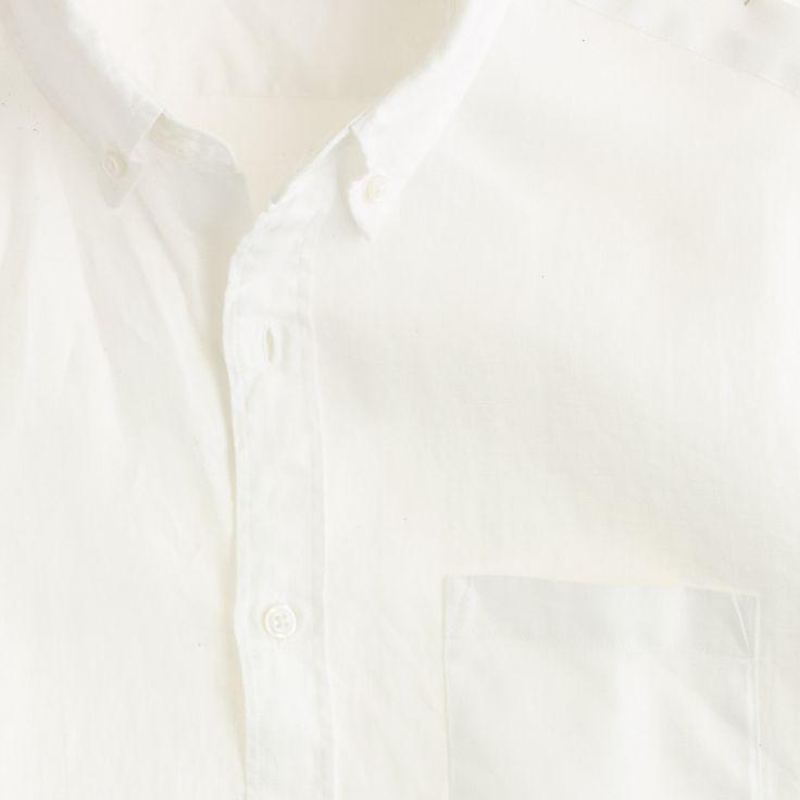 Irish linen shirt in solid : Linen | J.Crew