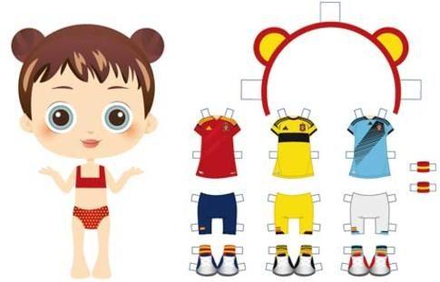 Recortables de la Roja para imprimir - Eurocopa 2012 - Juegos y fiestas - Guia del Niño#