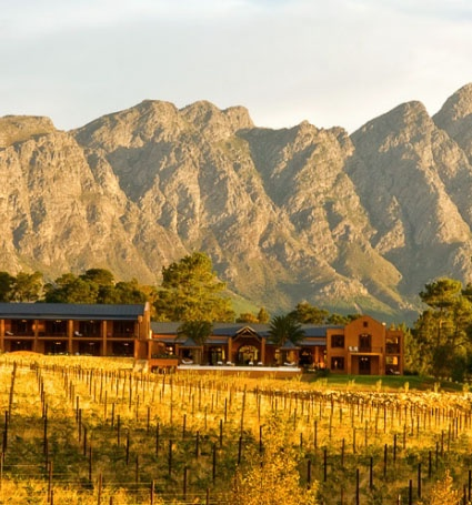 Resort and Winery in the Franschhoek region. Stay in the beautiful ultra-luxury facilities!