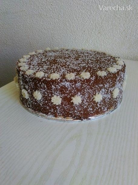 Kokosovo-čokoládová torta (fotorecept)