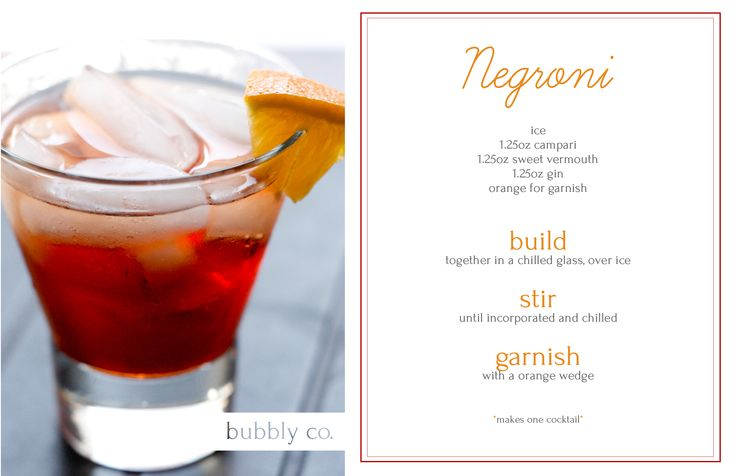 Give an aperitif a try, enjoy this classic Campari cocktail!
