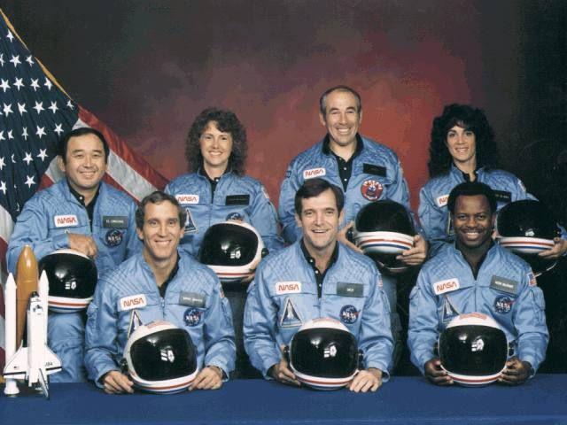 Crew of Spaceshuttle Challenger Lost 1986