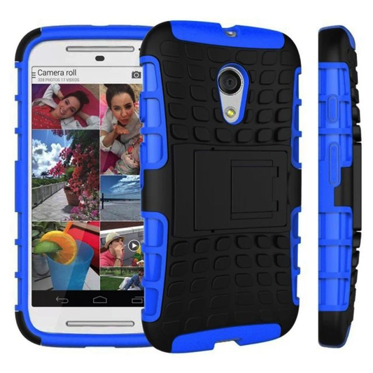 MOTOROLA MOTO G (2ND GEN) CASE, TPU PRIME DUAL LAYER COVER WITH KICKSTAND (NAVY)   #cellphonegadgets #mobileaccessories www.kuteckusa.com