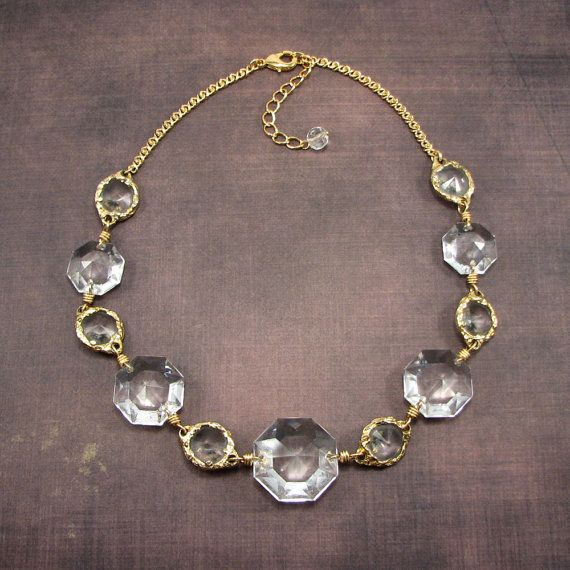 13 best chandelier jewelry images on pinterest crystal necklace chandelier crystal collar statements necklace by adornmentsnyc aloadofball Choice Image