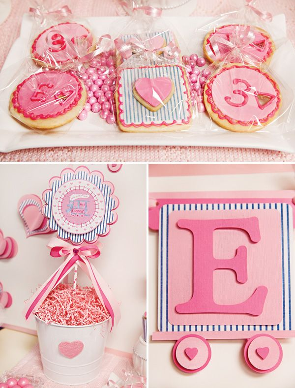 {Cute & Girlie!} Train of Love 3rd Birthday Party