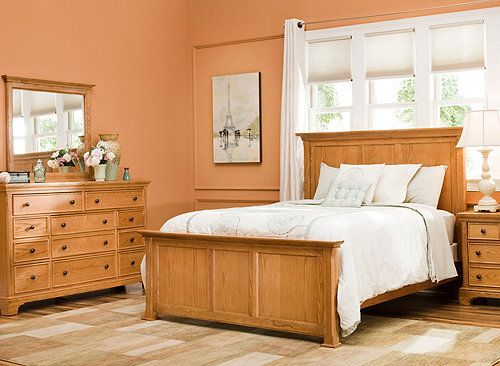 add a touch of beautiful style to your bedroom with this geneva 4pc king bedroom set its cleanlined design and gorgeous oak finish make it