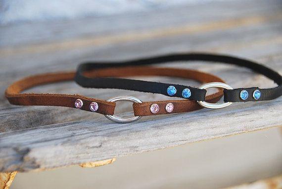 Custom Leather Dog Collar Necklace ID Tag door MarlonBrandLeather, $18.00