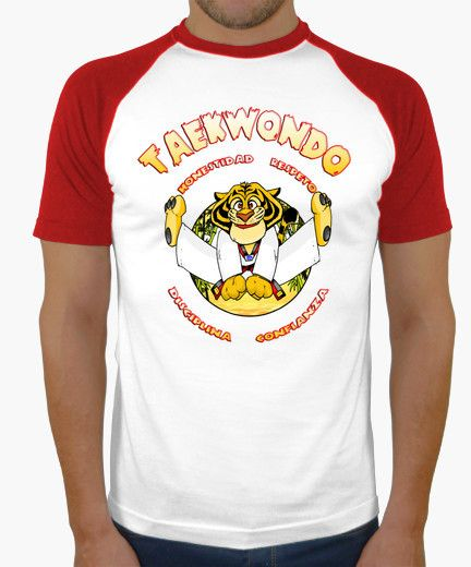 Camiseta taekwondo kid shiwi disciplina tigre artes marciales
