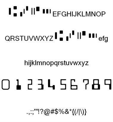 Image for MICR Encoding font
