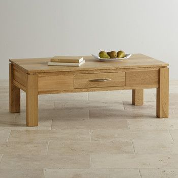 Galway Natural Solid Oak Large Storage Coffee Table
