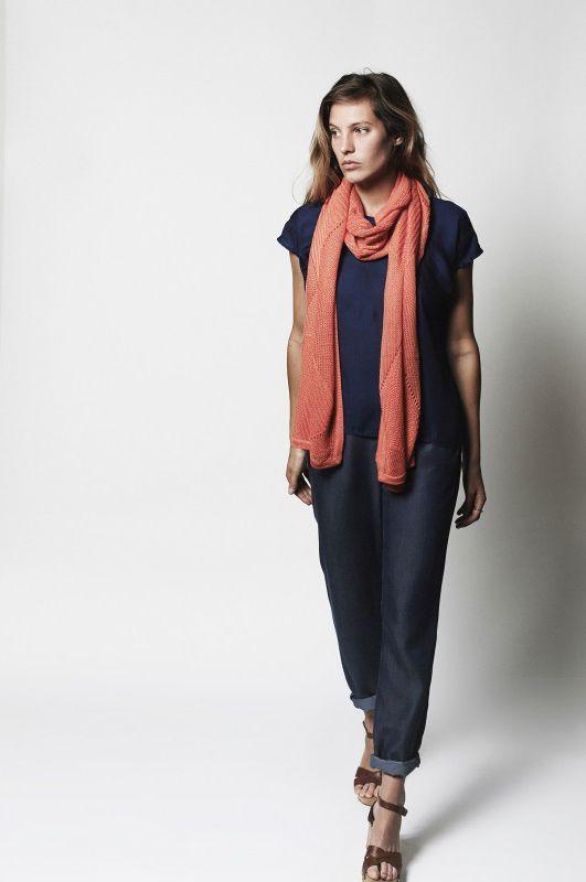 L'Herbe Rouge | SS15 Women Collection | Massane | Un pantalon qui sublime la silhouette en affinant la jambe et convient à de nombresues morphologies