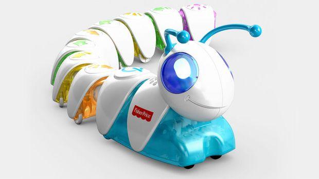 Fisher Price presenteert op de CES in Las Vegas speelgoed om peuter en kleuters vaardigheden te leren om later te kunnen programmeren. Kinderen kunnen onderdelen met verschillende symbolen aan elkaar klikken, waarna de rups de bewegingen uitvoert die bij de symbolen horen.
