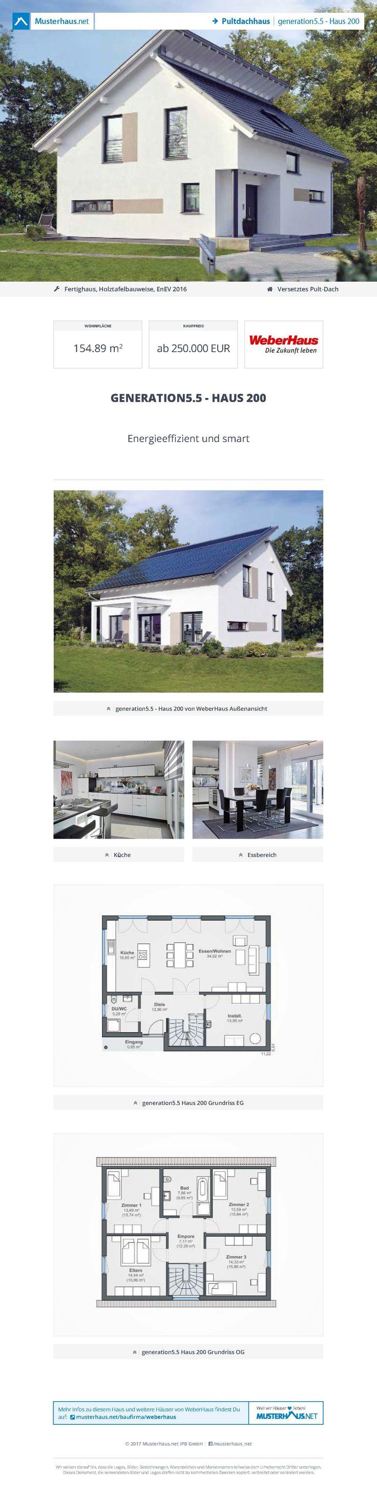 Generation5.5   Haus 200 U2022 Pultdachhaus Von WeberHaus U2022 Energieeffizientes  Fertighaus Mit Weißem Edelputz
