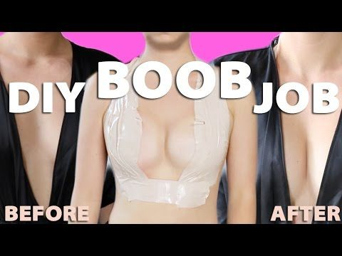 DIY BOOB JOB! KIM K'S BOOB TAPE HACK! How to tape your boobs for low cut...