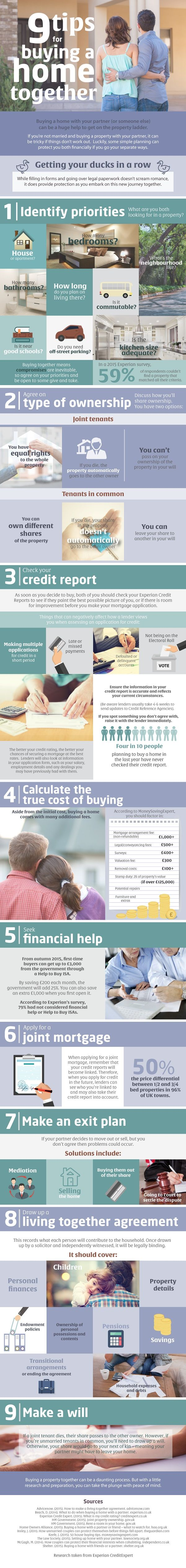 9 Tips For Buying A Home Together #infographic #Home #RealEstate