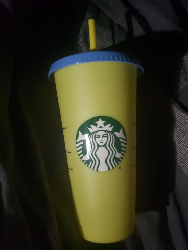 New never used yellow color changing starbucks cup