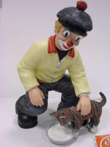 Gilde Clown NEUHEIT Das Leckermaul Clown mit Katze NEU-35252