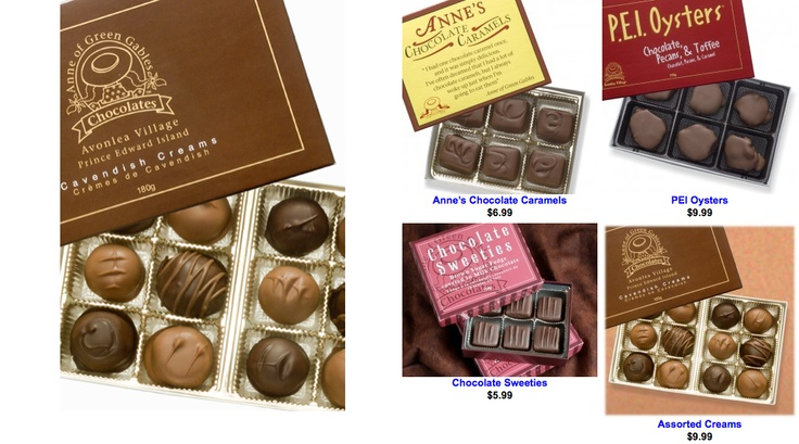 #PEI Anne of Green Gables #chocolates. http://www.annechocolates.com/boxedchocolates/chocolates_products/