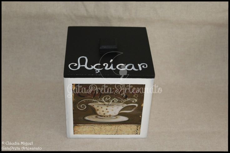 """Caixa para cápsulas Delta Q e caixa para pacotes de açúcar """"Black Coffee II""""."""