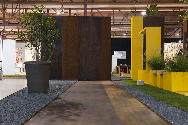 #boiserie and #corten #steel #flooring by Officina Marocchi www.officinamarocchi.it