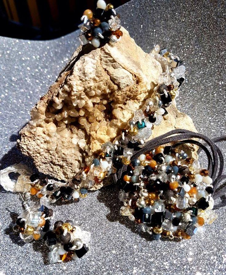 Handmade crochet bijoux Pollock inspiration