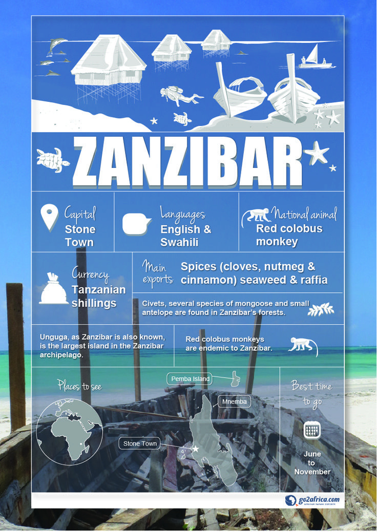 Zanzibar Country Information infographic. #Africa #Travel