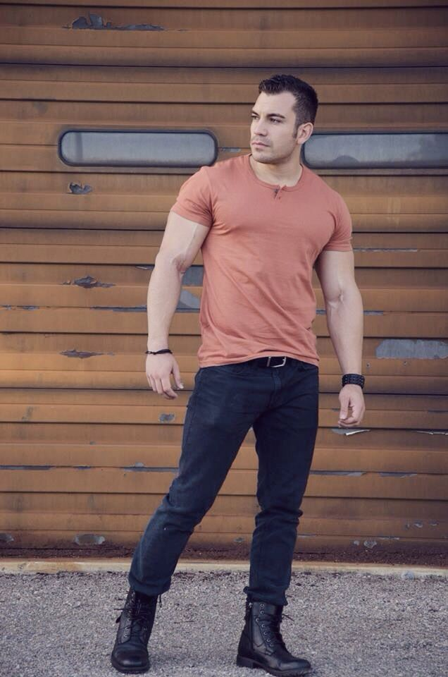 rugged casual black fitness model boots