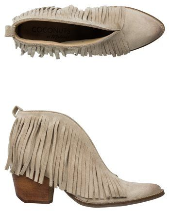 COCONUTS LAMBERT OPEN FRONT FRINGE BOOTIE. http://www.swell.com/New-Arrivals-Womens/COCONUTS-LAMBERT-OPEN-FRONT-FRINGE-BOOTIE?cs=IV