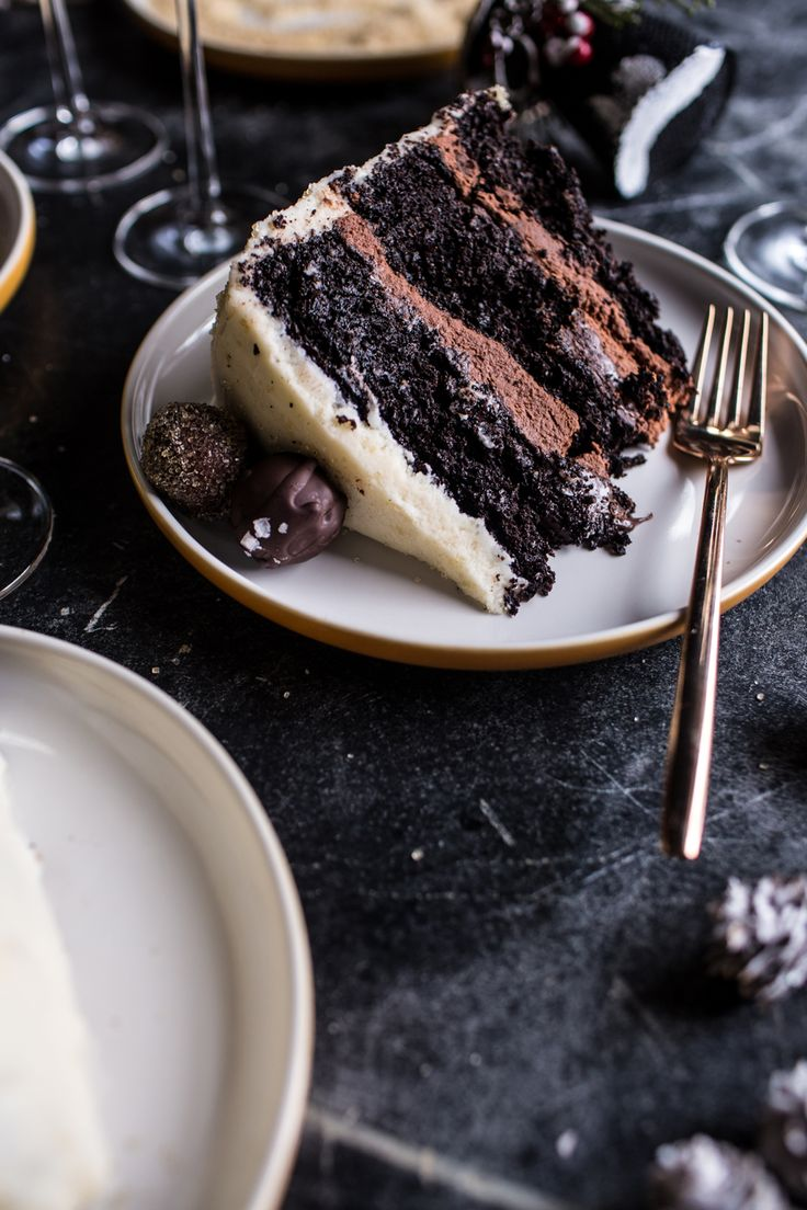 Sparkling Chocolate Truffle Champagne Cake Recipe by @hbharvest.