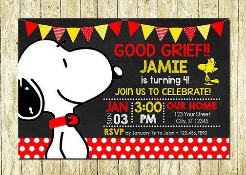 Snoopy Peanuts Digital Chalkboard Birthday Invitations by LittlePartyDesigns on Etsy https://www.etsy.com/listing/262374966/snoopy-peanuts-digital-chalkboard