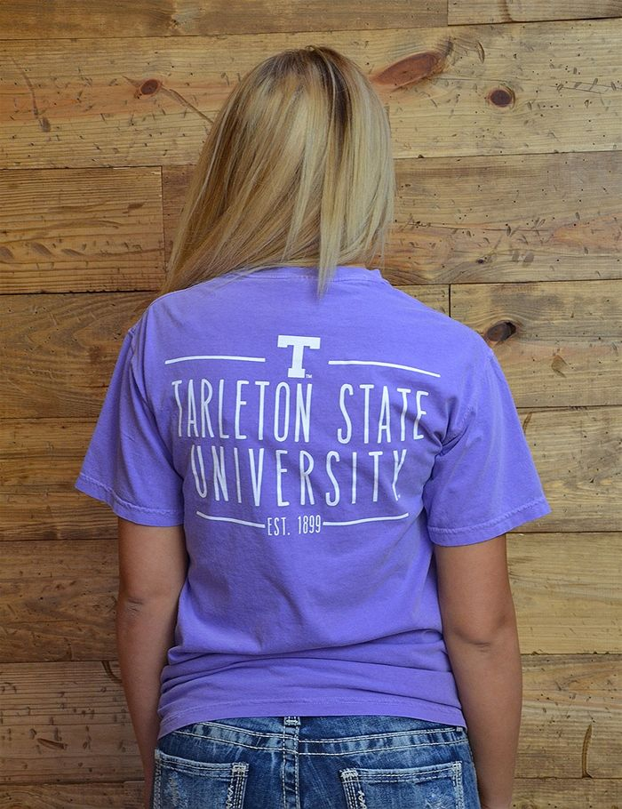 We are Tarleton State! Show your purple pride all year long with this new comfort colors tee. Go Texans!